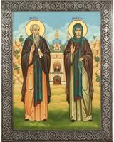 Иона и Васса святые преподобные Псково-Печерские (с видом) [ИБПБ(басма)]