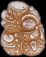 «Снеговики» имбирный пряник без начинки, 150г.