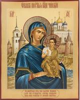 Чирская (Псковская) икона Божией Матери (с видом) [ИПП-1316]