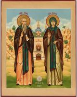 Иона и Васса святые преподобные Псково-Печерские (с видом) [ИПП-1114]