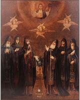 Собор Псково-Печерских преподобных. Икона из пещер Богом зданных [ИП-3040]