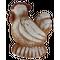 «Курочка» двухслойный пряник с джемом на меде между слоями. Рельефное изображение животного с обеих сторон, 150г.