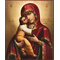 Умиление образ Пресвятой Богородицы Псково-Печерский из Успенского собора (репродукция)