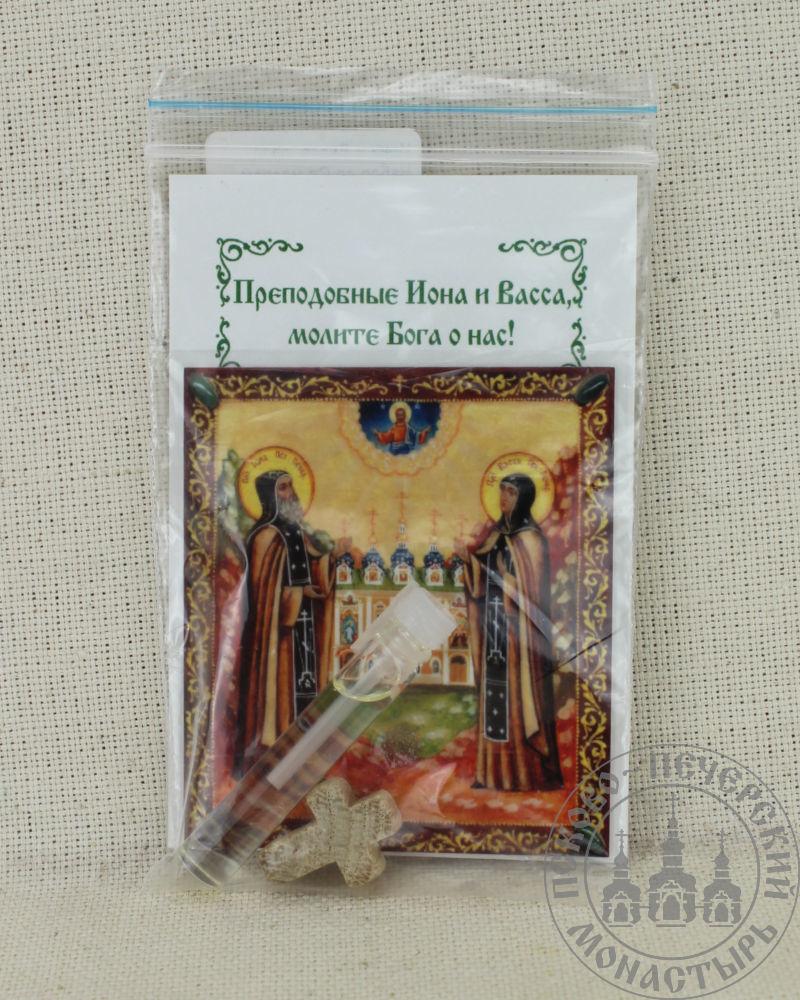 Иона и Васса святые преподобные Псково-Печерские. Набор со Святым маслом.