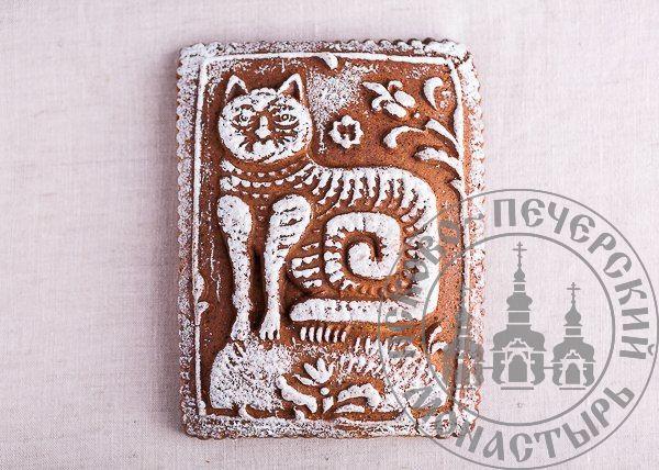 «Кот казанский» имбирный пряничный пирог с начинкой (повидло), 500г.