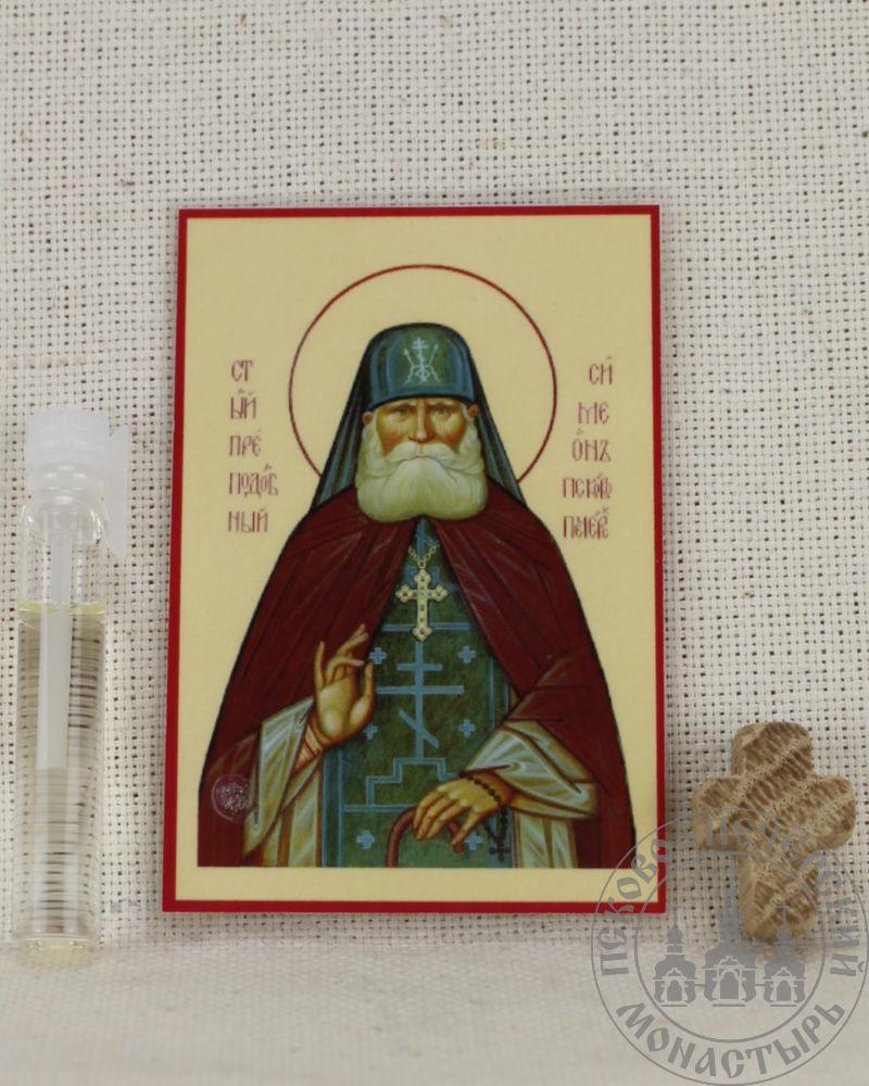 Симеон Псково-Печерский преподобный. Набор со Святым маслом.