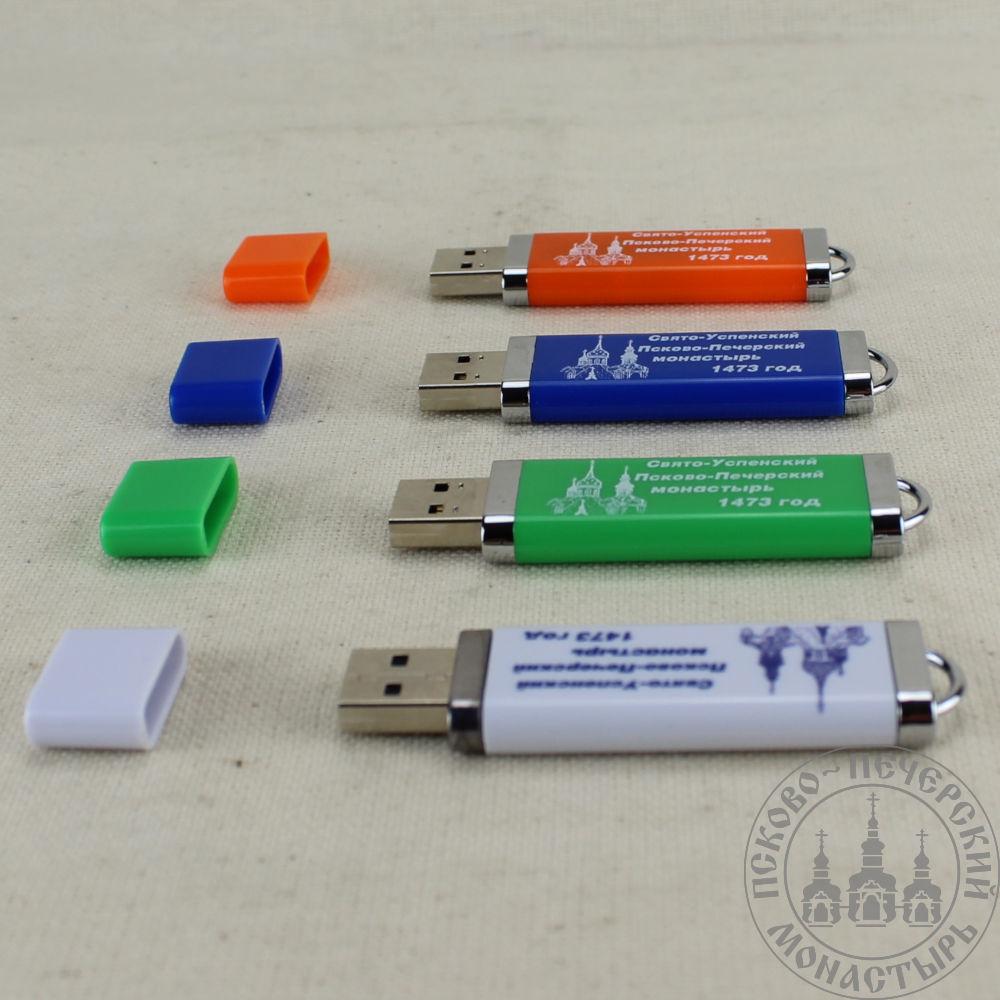 USB-флеш-накопитель с логотипом Свято-Успенского Псково-Печерского монастыря, 16 ГБ