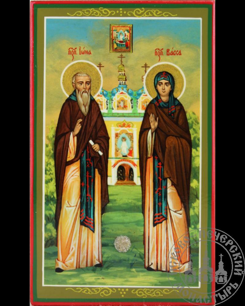 Иона и Васса святые преподобные Псково-Печерские (ростовая)