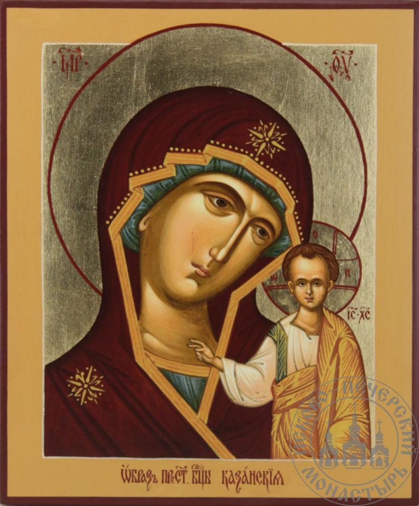 Казанская икона Божией Матери (классическая) [ИМАП(фон)]