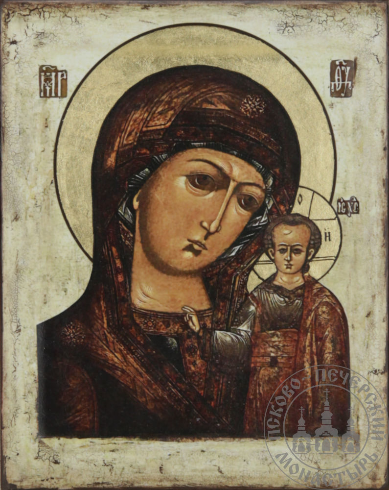 Казанская икона Божией Матери (репродукция стариной иконы) [ИК-1114]