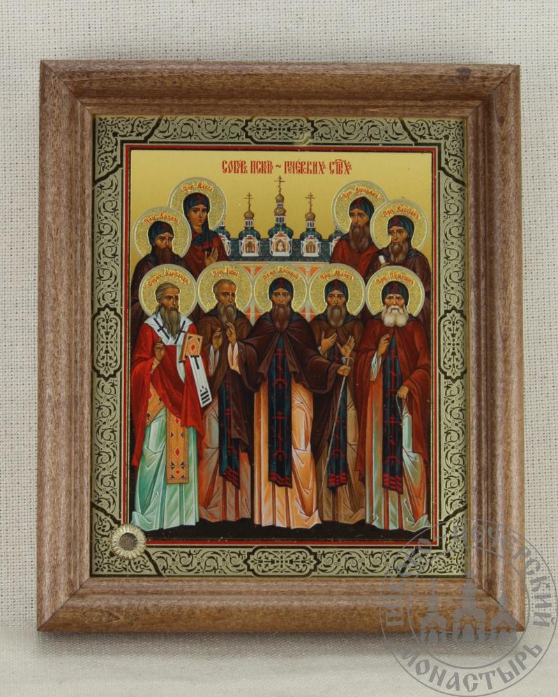 Собор Псково-Печерских святых  [СОФРИНО, 11x14, рамка дерево]