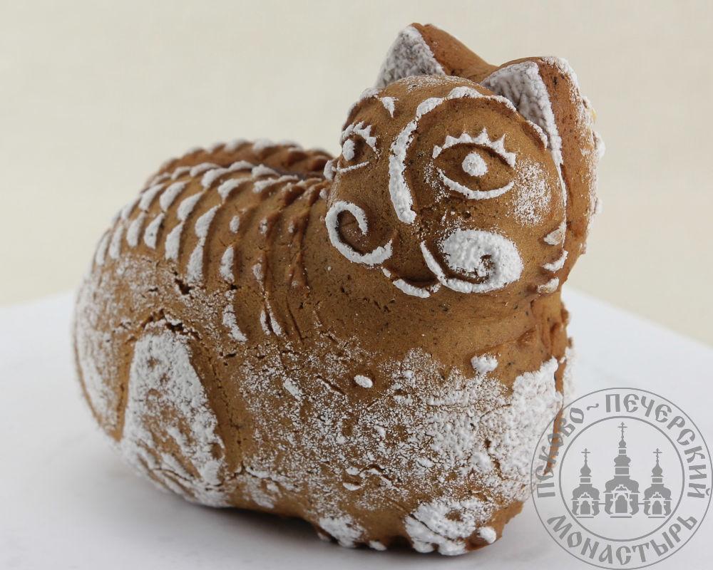 Кот двухслойный пряник с джемом на меде