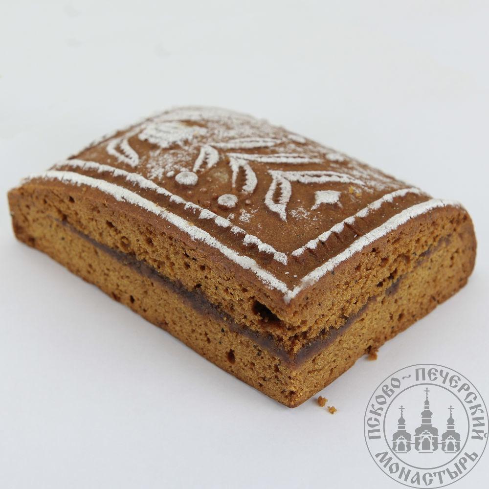 Кусочек от пирога Разгоня имбирный с начинкой (повидло), 160г.