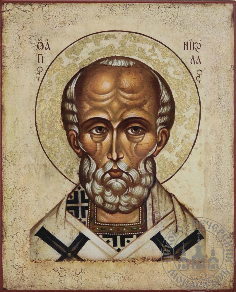 Николай святой Мирликийский чудотворец (оплечный)