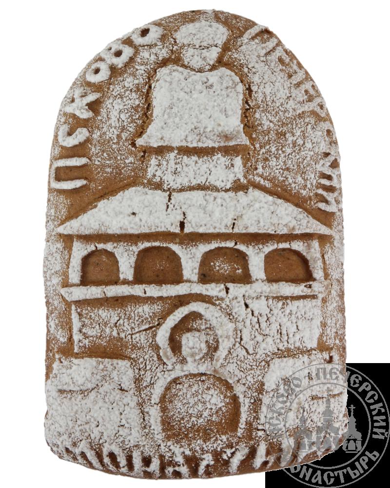 «Псково-Печерский монастырь» имбирный пряник без начинки, (полуовал), 130г.