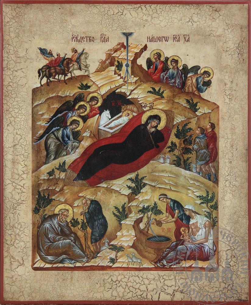 Рождество Христово (список с А.Рублева)Рождество Христово (список с А.Рублева)