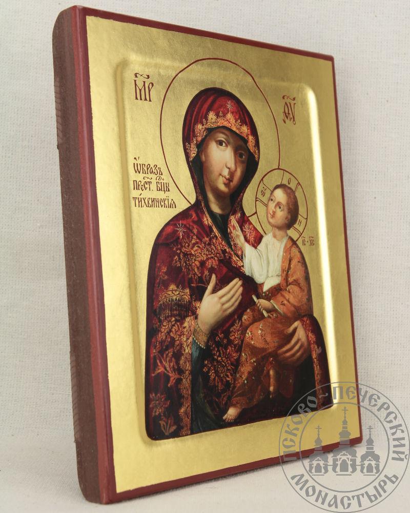Тихвинская икона Божией Матери Псково-Печорская (из Успенского храма)