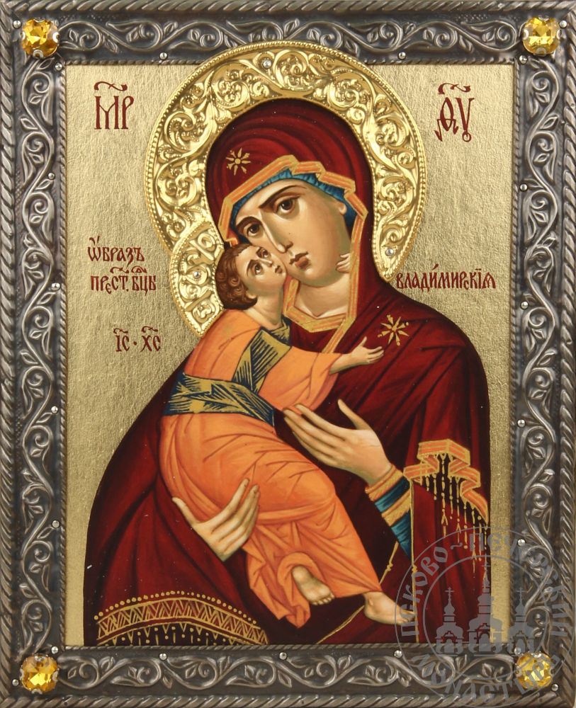 Владимирская икона Божией Матери [ИСПБЗ(4 камня)]