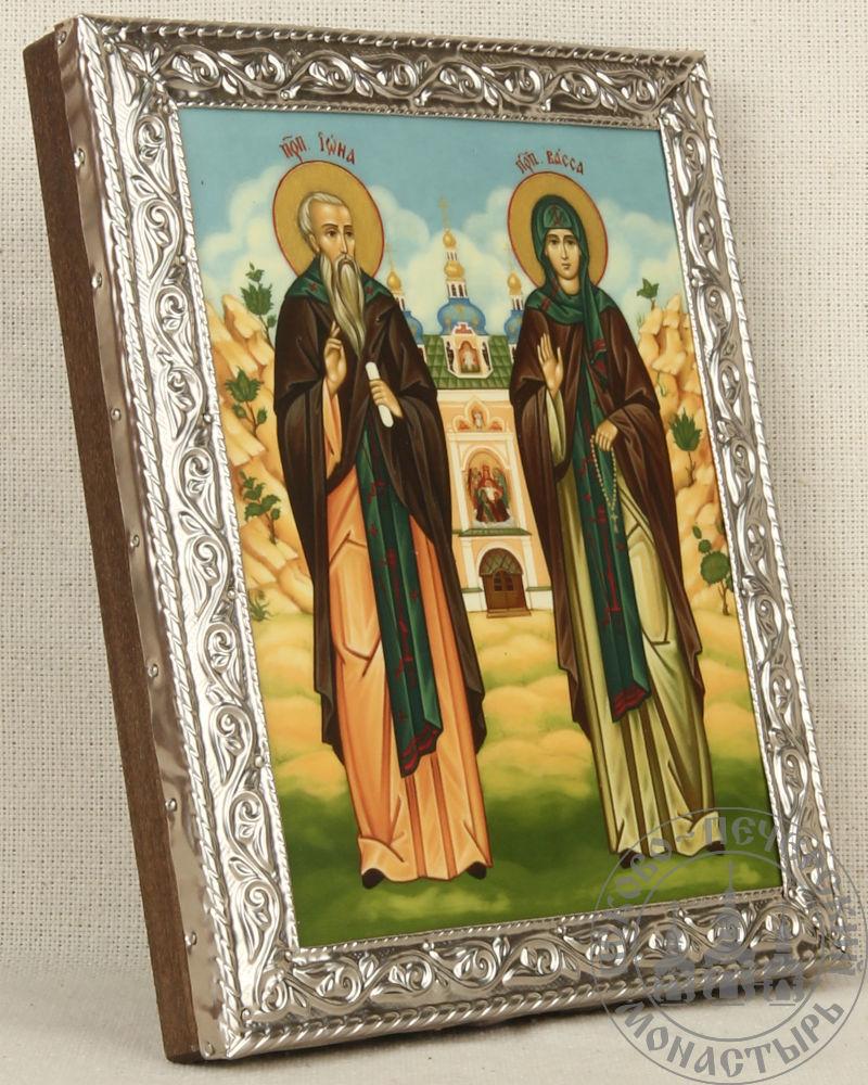 Иона и Васса святые преподобные Псково-Печерские (с видом) [ИСПБ]