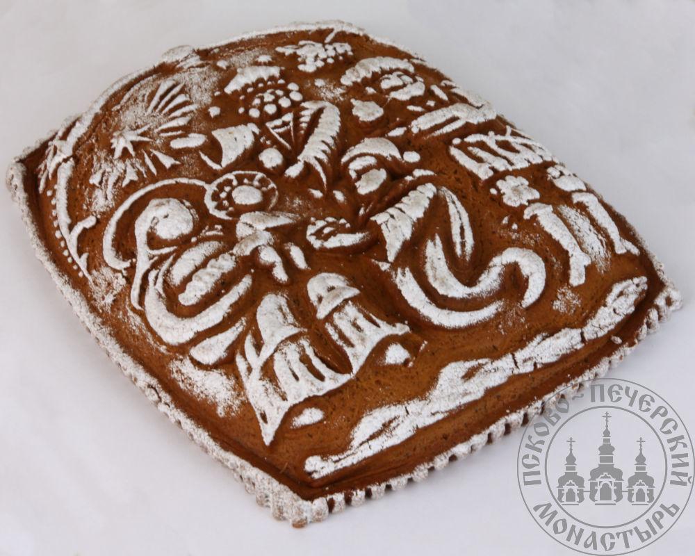 «Рождество» имбирный пряничный пирог с начинкой (повидло), 600г.