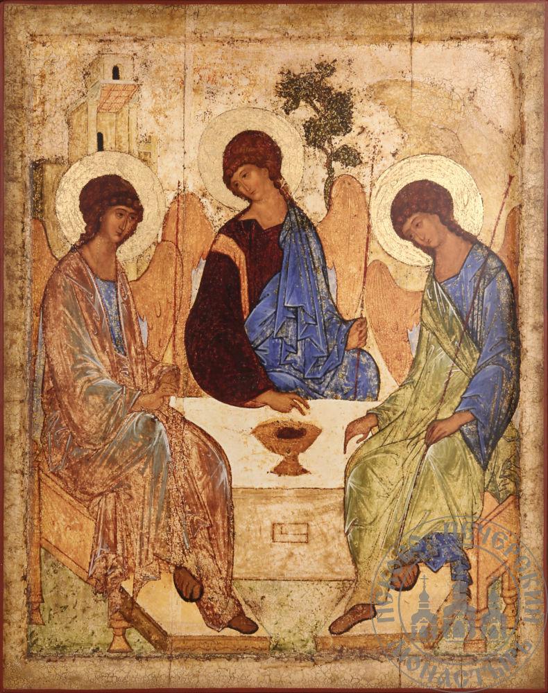 Троица Пресвятая (Рублев) [ИК-3040]