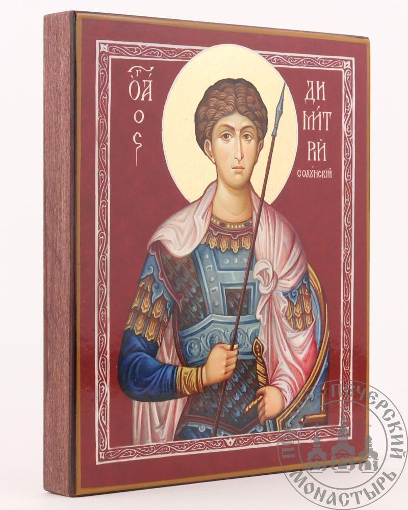 Дмитрий Солунский святой великомученик (на алом фоне) [ИПП-1316]