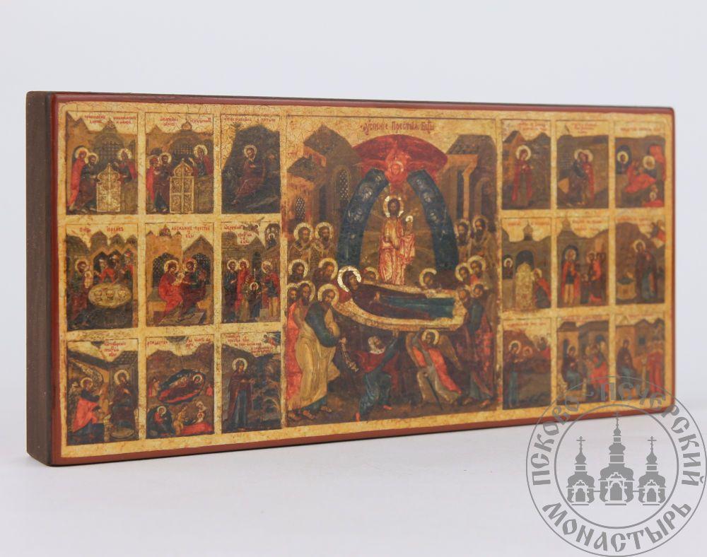 Успение в житии образ Пресвятой Богородицы (из Успенского собора) [ИПП-817]