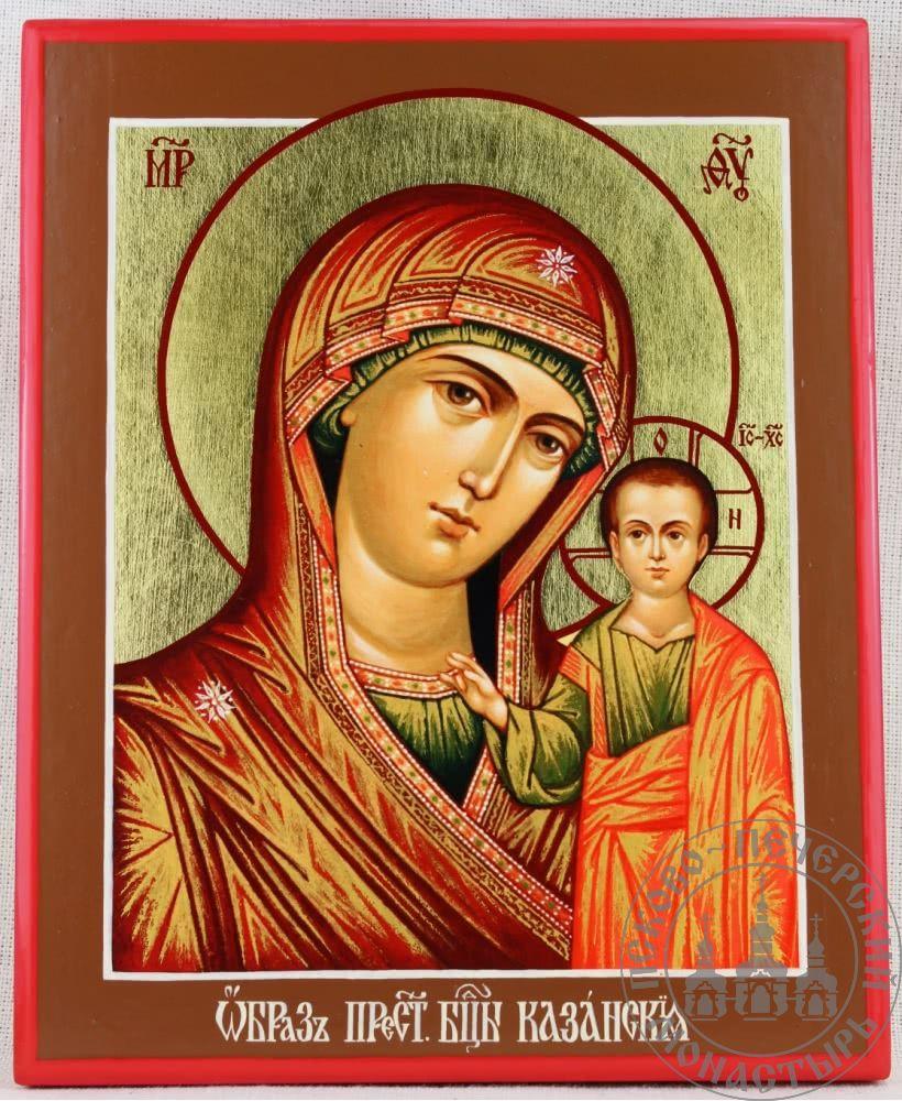 Казанская образ Пресвятой Богородицы (палех) [ИМАП(фон)]