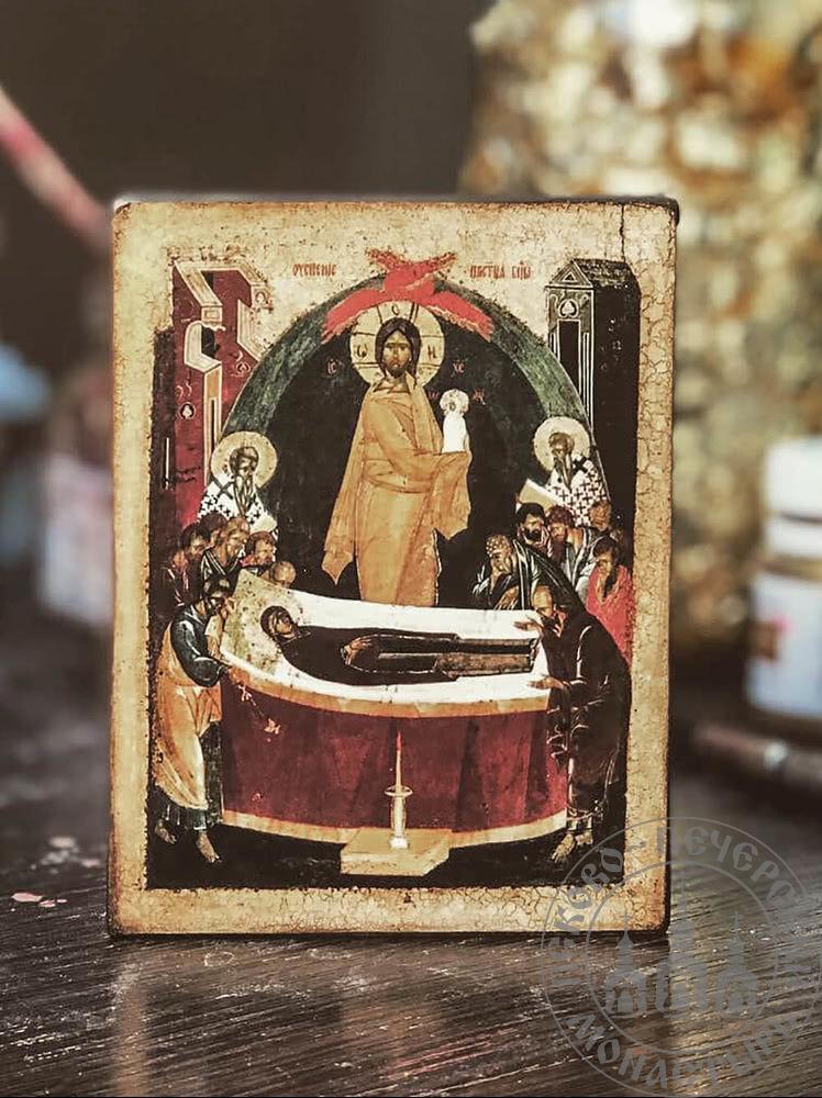 Успение Пресвятой Богородицы (репродукция работы Феофана Грека XIV в.)